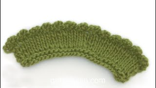 How to cast off with a picot edge