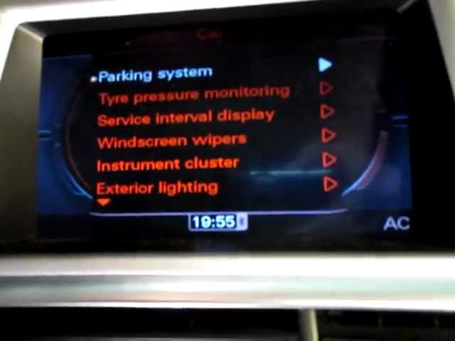 Bluetooth streaming MMI 3G Navigation Plus - YouTube