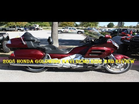 2008 Honda Goldwing Navi Demo Ride and Review