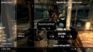 How many gold ingots you need to max smithing in Skyrim