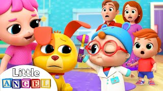 Baby Doctor Check Up | Boo Boo Song | Nursery Rhymes Little Angel