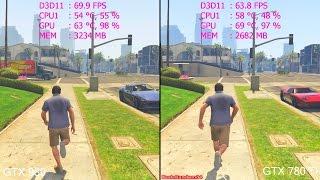GTA 5 Pc GTX 980 Vs GTX 780 TI Frame Rate Comparison