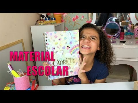 MATERIAL ESCOLAR 2018 PARTE I - ISABELA VAIDOSA