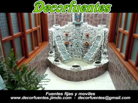 Fuente de agua decorativa youtube for Fuentes de jardin