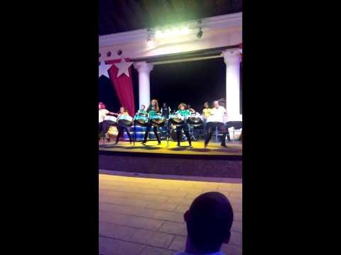 Silver birds steel drum band performing in Jamaica
