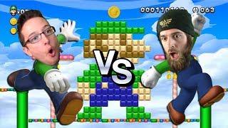 DGR vs RYUKAHR   New Super Luigi U Blind Race [Full Archive]