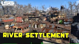 Fallout 4 - Epic Riverside Settlement (Tour)