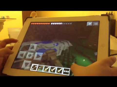 Minecraft PE : multiplayer with creeper girl ( part 2 )