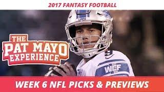 2017 Fantasy Football - Week 6 NFL Picks, Game Previews, Survivor Selections + Cust Corner Mini