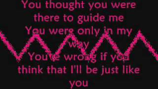 Three Days Grace - Just Like You (lyrics)