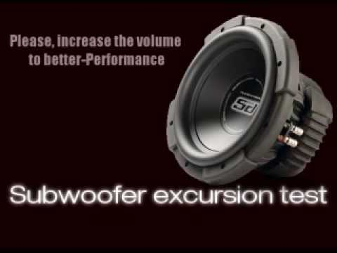 Extreme Bass Test Subwoofer excursion test Sound Only