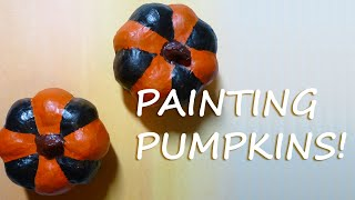 Simple Painted Craft Pumpkins – Quick Fall DIY