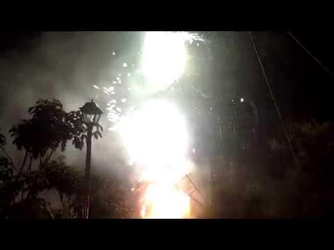 Virgen del Rosario Xochimilco Oaxaca 2014 Cohetes