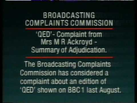 BBC - Broadcasting Complaints Commission Statement - 1991