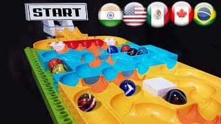 Marble Race 5 funnel : Incredible Country Balls Tournament