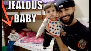 JEALOUS BABY PRANK!!! **THEIR FIRST FIGHT**