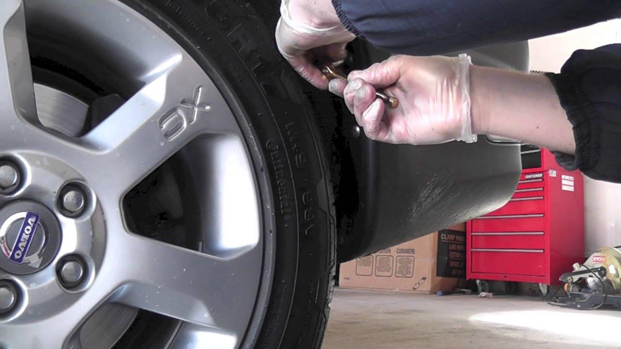Volvo XC70 Mudflaps Installation - YouTube