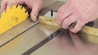 Woodworking Tips: Table Saw - Check Parallelism