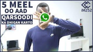 5 meel oo aad ka qarsan karto Whatsapp-kaaga.