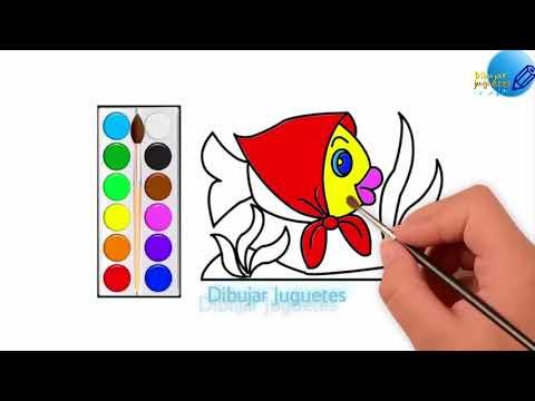 Como Dibujar y Colorear Un Pez de Colores -Dibujos Para Niños ...