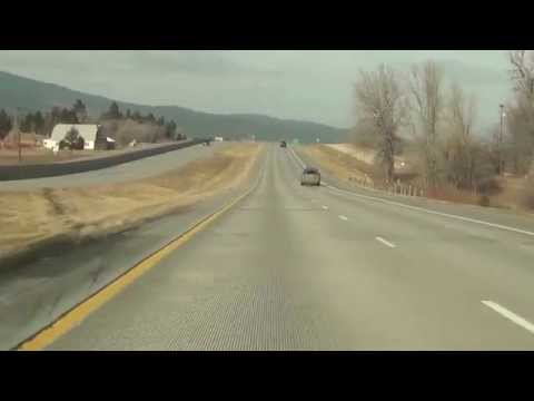 Driving WB On I-90 From Piedmont To Sturgis, SD In The Winter 12/24/12