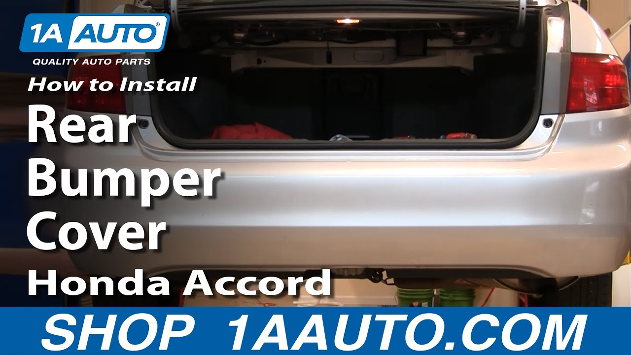 install replace rear bumper cover honda accord