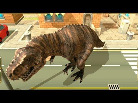 СИМУЛЯТОР ДИНОЗАВРА #1 Тиранозавр РЕКС РАЗРУШАЕТ ВСЁ игровой мультик про динозавров DINOSAUR sim