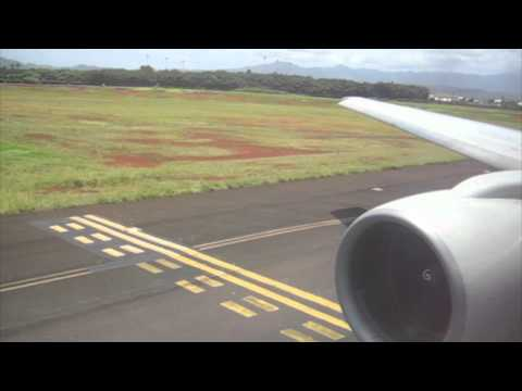 United Airlines departing Lihue Kauai Hawaii for SFO