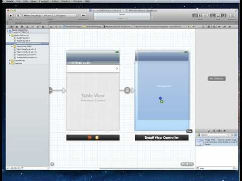 iOS Tutorial - Master Detail | Navigation Controller app using Storyboards - Part 1/2