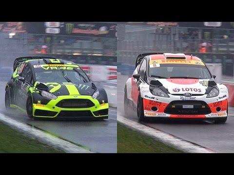 Valentino Rossi Vs. Robert Kubica di  Monza Rally Master Show 2014