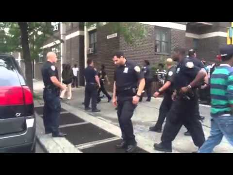 N.Y.P.D. Take a man down in Brooklyn