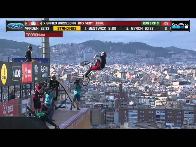 Simon Tabron wins X Games Barcelona BMX Vert silver