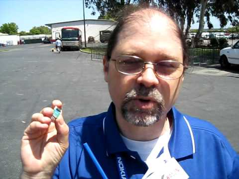 PART 1 of 3. Leigh Klotz WA5ZNU demonstrates a wireless APRS device (Automatic Position Reporting System) using a low cost microprocessor and transmitter to ...
