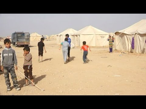 Displaced Iraqi children tell of life under IS group