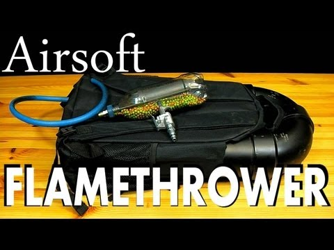 How to Make a $4 BB Gun &  Airsoft Flamethrower