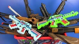 Box of Toys ! Minecraft Gun Military,Hunter Guns Toys for Kids