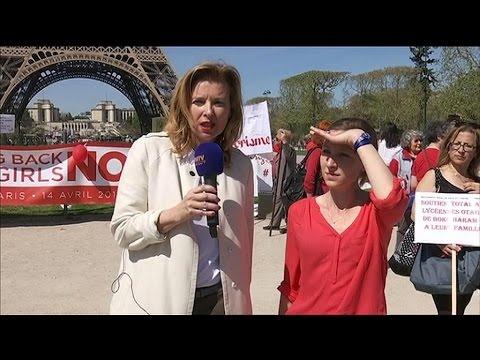 Lycéennes enlevées au Nigeria: Valérie Trierweiler déplore