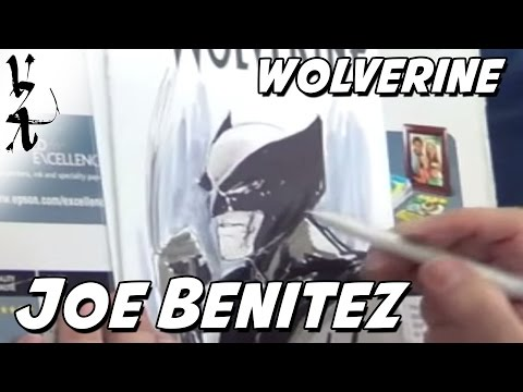 Joe Benitez drawing Wolverine