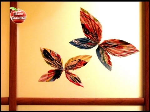 Diy decor ideas how to make paper butterfly decorate for Making butterfly decorations
