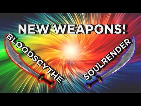 New Skyrim Dragonborn DLC Weapon Highlight - Bloodscythe and Soulrender (1-Handed Swords)