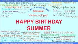 Summer   Languages Idiomas - Happy Birthday