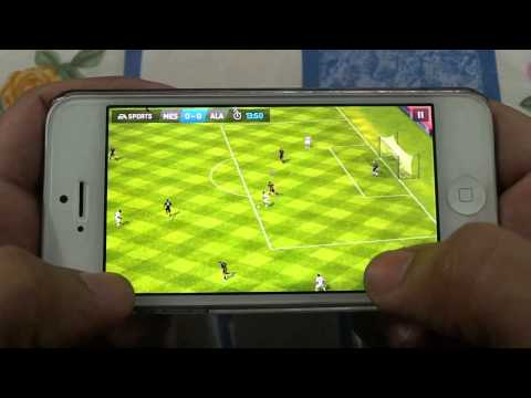 IPHONE 5 FIFA 14 GAMEPLAY