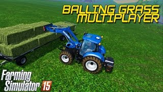 Farming Simulator 15 - Balling grass, Multiplayer