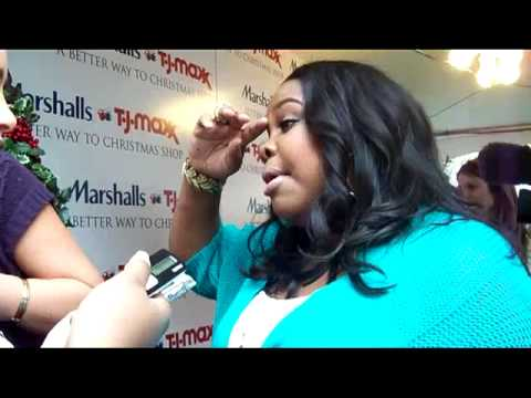 Amber Riley (Mercedes) star of GLEE Carol-oke by TJ Maxx and Marshalls.