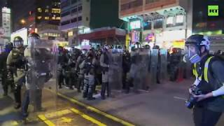 Hong Kong riot police getting ready as protests intensify
