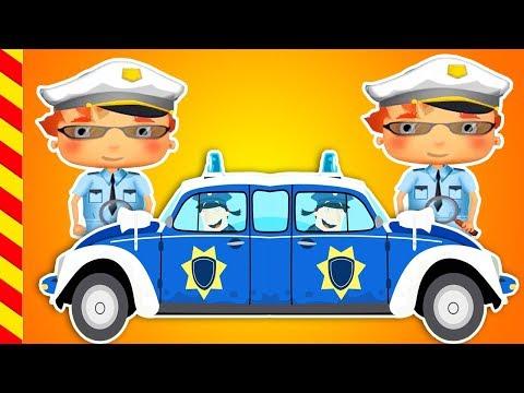 Мультик про полицию. Машина с мигалкой ловим вора. Детские мультики про погоню полиции за злодеями