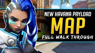 Overwatch NEW Map Havana Walkthrough - Flanks and Routes - PTR Update