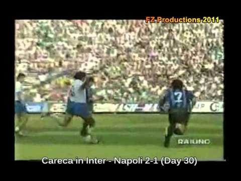 The best goals scored in Italy in 1988/89 season. You can see goals scored by champions like Rijkaard, Ruben Sosa, Gullit, Matthaus, Dunga, Ramon Diaz, Van B...