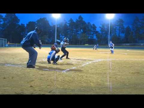 Worlds strongest 8yr old girl hitting vs 10U travel ball pitcher