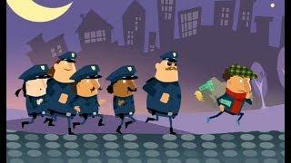Chạy Xe Cảnh Sát Bắt Trộm - cu lỳ chơi game Little Police Station for kids